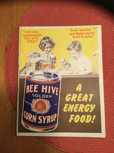 1950's Bee Hive Corn Syrup notebook