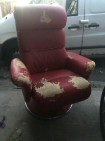 Red leather gaming chair