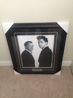 Elvis Presley Frank Sinatra Picture in a Nice Frame with Plaque