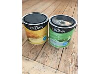 New tins of crown paint