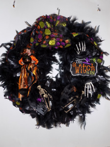 Halloween Hand Decorated Wreath