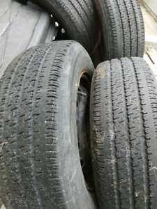 4 all season tires on rims balanced 185 65 14  o