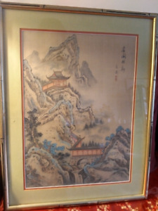 Oriental style painting.