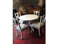 Gorgeous shabby chic table and 4 chairs
