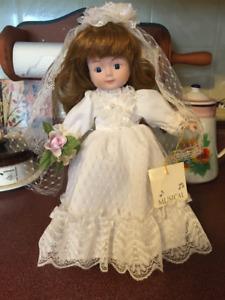 Musical Porcelain Bride Doll