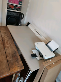 IKEA desk with wheels (150cm X 75cm)