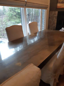 Unique Brass Plated Dining Table - $900 or best serious offer.