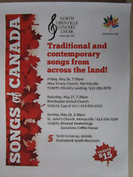 Songs of Canada - 3 concerts!