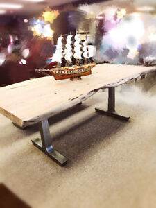 NEW ARRIVIAL --- ACAICA SOLID WOOD DINING TABLE AND BENCH!!!
