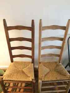 2 Ladder Back Chairs - Used