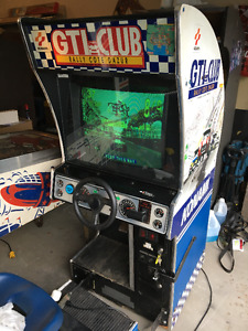 GTI CLUB RACING ARCADE MACHINE MAN CAVE VINTAGE 90S CLASSIC GAME