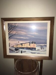 "RAILROAD ART , FOGG , "" FAST FREIGHT FROM DENVER """