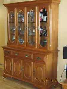 Maple Hutch and Buffet Excellent Cond.$375.00 or. B.O.