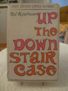 "1964 EDITION BEL KAUFMAN HARD COVER ""UP the DOWN STAIR CASE"""