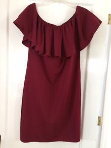 British Dress by Boohoo UK. Size L Burgundy