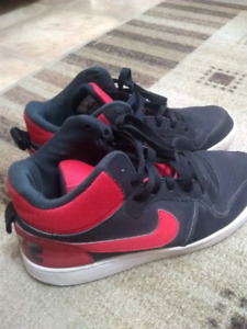 Red and Black Nikes Size 7