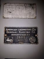 Locomotive builders plates