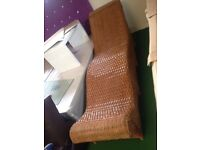 Wicker chez lounge sofa