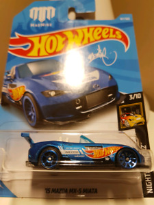 Hot wheels Mad Mike 15 Mazda Miata blue