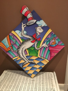 Dr, Seuss painting and chest