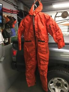 Snowmobile/Ice Fishing Floatation Suit.