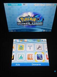Nintendo 3DS XL Blue With Pokemon Ultra Moon