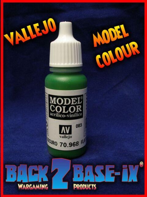 Vallejo Model Color Acrylic Paint 17ml Bottle Flat Green 70968