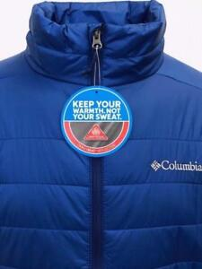 BRAND NEW Mens Columbia Blue Omni-Heat Crested Butte Jacket 50% OFF 100% AUTHENTIC