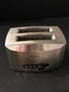 Betty Crocker 2 slice stainless steel toaster