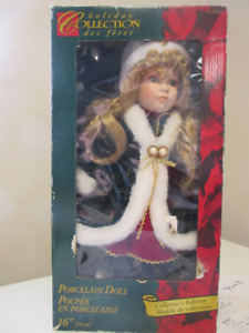 Holiday Collection Porcelain Christmas Doll