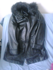100% leather womens winter jacket Sequence XL