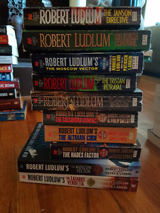Nearly a hundred soft cover Thrillers and Mystery's