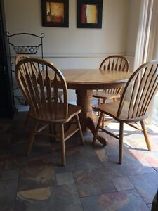 9 Piece Solid Oak Dining Set