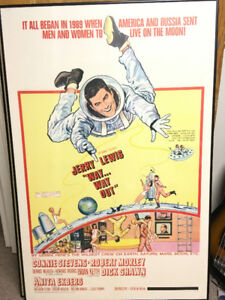 Vintage movie poster 1960s Jerry Lewis Way… way out