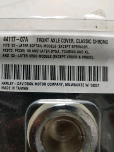 Harley Davidson Chrome Front Axle Cover