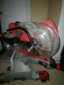 "Milwaukee 12"" sliding compound miter saw"