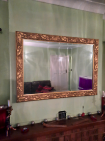 "Ornate Gold Wall Mantel Mirror 41.5"" x 29.5"""