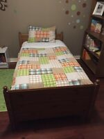 Absolute Mint condition twin bed and mattress