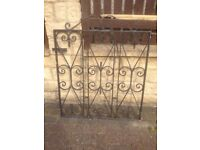 """Black heavy-duty iron,steel gate with original solid steel post,bargain at £45,H=34""""&W=34 inches too"""