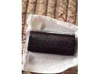 Black clutch bag brand new