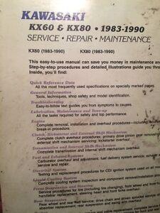 1983-1990 Kawasaki KX60 KX80 Service Repair Manual Regina Regina Area image 2