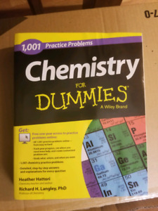 Chemistry for dummies practice book