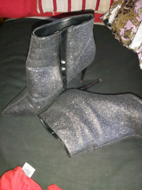 Silver sparkley boots