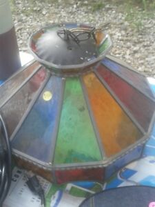 FOR SALE: ANTIQUE STAINED GLASS LIGHT