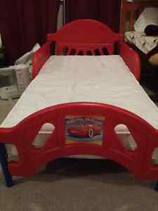 Disney Cars Toddler Bed with mattress.