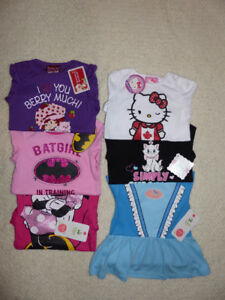 Baby Girls Onesies Clothes Lot of 6 *Brand New* Sz 18-24 Months