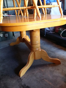Solid wood kitchen table with 4 chairs