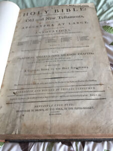1798 Holy Bible