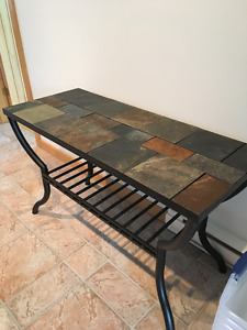 Beautiful Stone and Metal SIdeboard Table