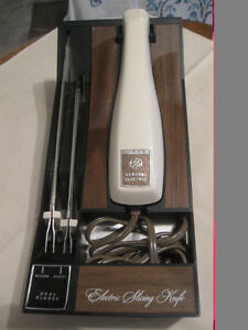 DELUXE DUAL-BLADE BOXED GENERAL ELECTRIC SLICING KNIFE SET